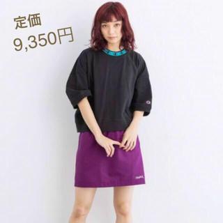 エックスガール(X-girl)の数回のみ Champion コラボ 厚手Tシャツ(Tシャツ(半袖/袖なし))