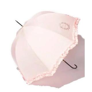 メゾンドフルール(Maison de FLEUR)のmaison de fleur ヒートカットフリル長傘 ピンク(傘)