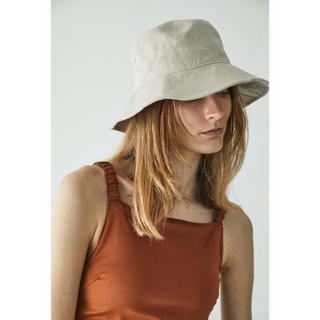 moussy - LINEN COTTON BUCKET ハット
