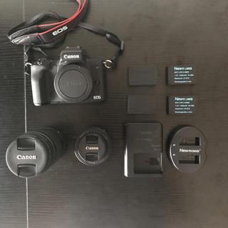 Canon - EOS kiss m ブラック+単焦点レンズ、高倍率ズームレンズ+バッテリー
