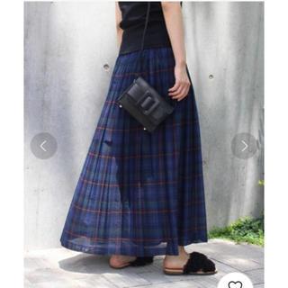 FRAMeWORK - 美品 チェックプリーツスカート