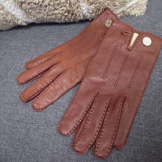 Hermes - 正規品☆エルメス 手袋 グローブ セリア ブラウン レディース バッグ 財布