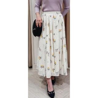ノエラ(Noela)のNoela ドットフラワー刺繍スカート(ロングスカート)