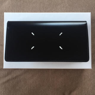 マルタンマルジェラ(Maison Martin Margiela)の20AW新品 メゾン マルジェラ カーフスキン 長財布 今期 新作 黒 ブラック(折り財布)