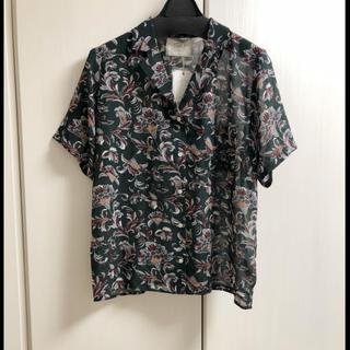 Ungrid - 新品 フラワーハーフスリーブシャツ