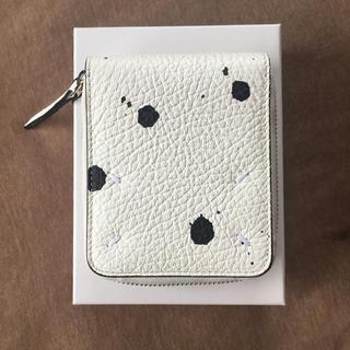 マルタンマルジェラ(Maison Martin Margiela)の20SS新品 メゾン マルジェラ ペイント 折り財布 レディース ホワイト(財布)