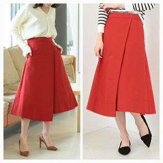 デミルクスビームス(Demi-Luxe BEAMS)のDemi-Luxe BEAMSビームスのスカート  赤(ロングスカート)