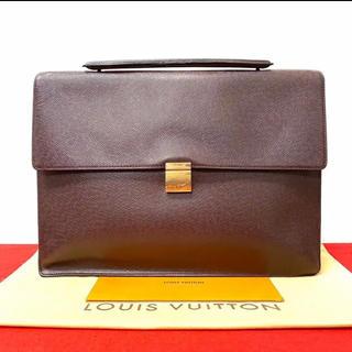 ルイヴィトン(LOUIS VUITTON)の美品 ヴィトン ルイヴィトン ビジネスバッグ ハンドバッグ タイガ ブラウン(ビジネスバッグ)