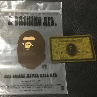 アベイシングエイプ(A BATHING APE)のエイプ BAPE ゴールド会員限定 クレジットカード型マグネット(その他)
