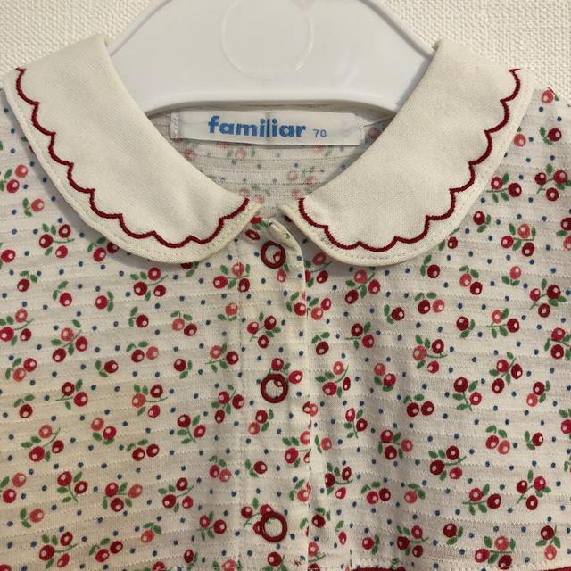 familiar(ファミリア)のファミリア 70 キッズ/ベビー/マタニティのベビー服(~85cm)(ロンパース)の商品写真