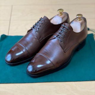UNITED ARROWS - UNITED ARROWS 外羽根ストレートチップ革靴 7ハーフダークブラウン