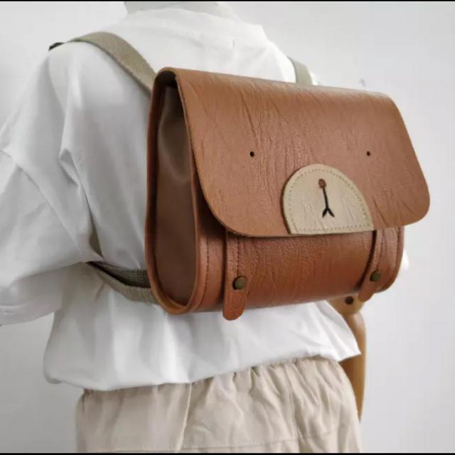 くまさん リュック ブラウン キッズ/ベビー/マタニティのこども用バッグ(リュックサック)の商品写真