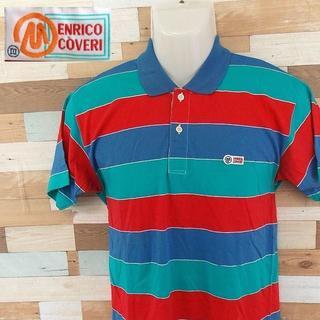 エンリココベリ(ENRICO COVERI)の【ENRICO COVERI】 美品 エンリココベリ 半袖ボーダーポロシャツ 3(ポロシャツ)