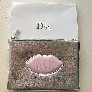 Dior - ディオール Dior ポーチ シルバー ノベルティ 非売品 リップ 完売 限定