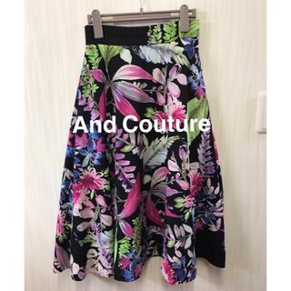 アンドクチュール(And Couture)のAnd Couture 花柄スカート(ひざ丈スカート)