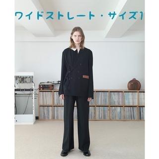サンシー(SUNSEA)のSUNSEA 20ss Wide Straight Pants【サイズ1・黒色】(スラックス)