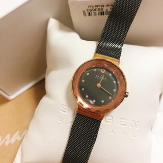 SKAGEN - SKAGEN  スカーゲン 腕時計 レディース【ブラック&ゴールド