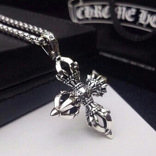 Chrome Hearts - 【週末限定価格】クロムハーツ CHクロス ペーパーチェーンネックレス