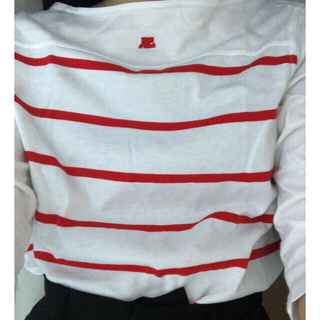 courreges  red border tops❤️