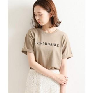 IENA - イエナ♡イエナ ロゴプリントTシャツ ベージュB