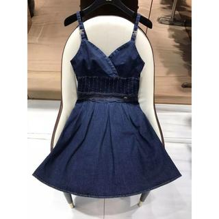 シャネル(CHANEL)の美品CHANEL 吊りスカート ニット  ワンピース(ミニワンピース)