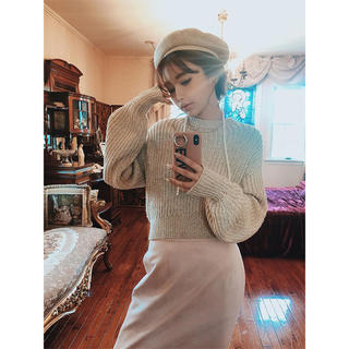 エイミーイストワール(eimy istoire)のeimy♡ リリヤーンショートニットプルオーバー(ニット/セーター)