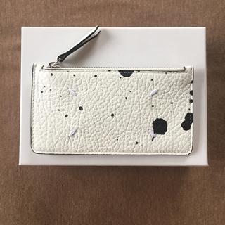 マルタンマルジェラ(Maison Martin Margiela)の20SS新品 メゾン マルジェラ ペイント カードケース 小銭入れ 財布 白(財布)