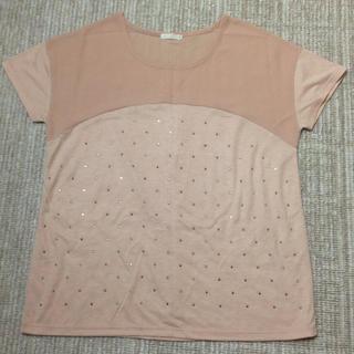 ジーユー(GU)のシフォン切り替えカットソー(Tシャツ(半袖/袖なし))