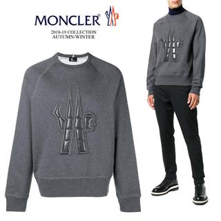 モンクレール(MONCLER)の[新品] モンクレール グレー キルト Maglia スウェットシャツ(スウェット)