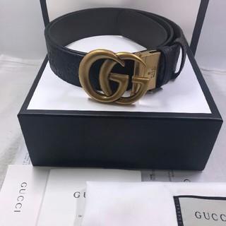 Gucci - GUCCI(グッチ)メンズベルト ブラックxブラウン size:90