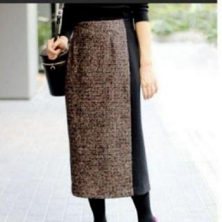 イエナ(IENA)のIENA Naoko Tsuji チェックバイカラースカート(ひざ丈スカート)