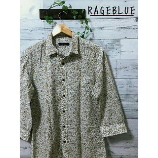 RAGEBLUE - RAGEBLUE  七分袖  花柄シャツ