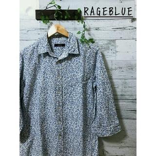 RAGEBLUE - RAGEBLUE  七分袖  コットンリネン  花柄シャツ