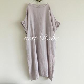 nest Robe - ページ更新します nest robe  フレンチスリーブ 薄いラベンダー系ワンピ