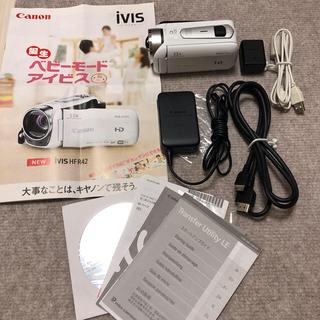 Canon - 【美品】ビデオカメラ canon ivis HF R42 メモリーカード付き