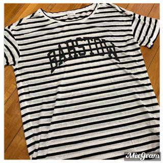 PLST - PLST*ボーダーロゴTシャツ