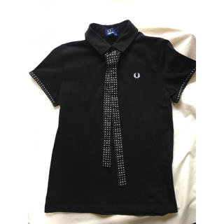 FRED PERRY - レアなネクタイつき FRED PERRY レディースポロシャツ 黒