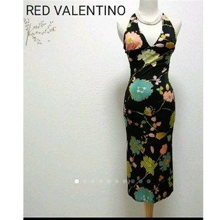 RED VALENTINO - 美品レッドヴァレンチノ花柄ホルターネックワンピース/ドルチェ&ガッバーナポールカ