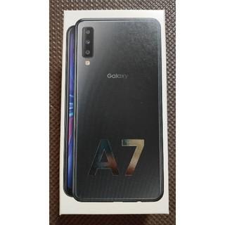 サムスン(SAMSUNG)の【新品未開封】 Galaxy A7 64GB ブラック(スマートフォン本体)