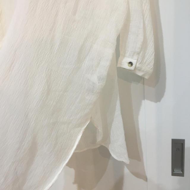 ZARA(ザラ)のzaraラスティックオーバーシャツワンピース試着のみS-M レディースのトップス(シャツ/ブラウス(長袖/七分))の商品写真