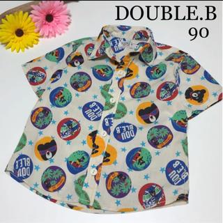 ダブルビー(DOUBLE.B)のミキハウス ダブルビー 半袖 ブラウス アロハ シャツ 夏 マリン ファミリア(Tシャツ/カットソー)