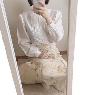 イエナスローブ(IENA SLOBE)の薔薇柄ロングスカート(ロングスカート)