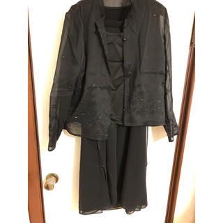 leilian - レリアン フォーマル スーツ 3点セット 黒 11号 ジャケット スカート