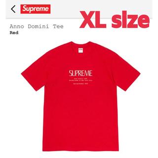 シュプリーム(Supreme)のSupreme Anno Domini Tee Red XLサイズ(Tシャツ/カットソー(半袖/袖なし))