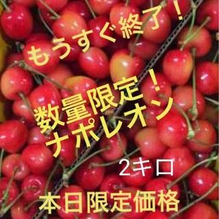 お買い得!山形県産 さくらんぼ ナポレオン 2キロ(フルーツ)