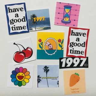 インス ステッカー風 ロゴ 光沢カード 10枚 即購入OK(印刷物)