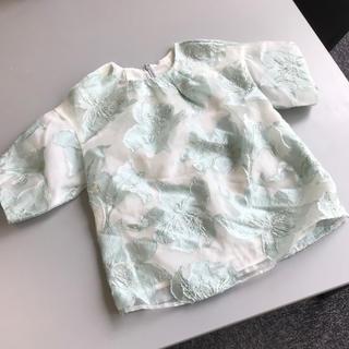 Chesty - チェスティ  オーガンジー 花柄 ラメ トップス 半袖