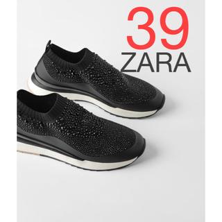 ザラ(ZARA)のZARA ビジュー スニーカー 新品 39(スニーカー)