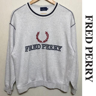 FRED PERRY - FRED PERRY スウェット フレッドペリー ビッグロゴ ヴィンテージ 貴重