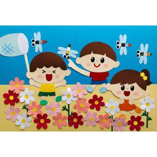 壁面飾り 9月 コスモス(型紙/パターン)